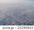【上空素材】一面に広がる雲海に反射する夕陽 20290843