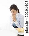 ビジネスイメージ 体調不良の若い女性 20291408