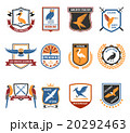 Birds Emblems Flat Icons Collection  20292463