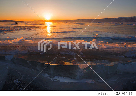 Baikal lake in wintertime, Siberia, Russia
