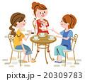 女性 人物 食事のイラスト 20309783