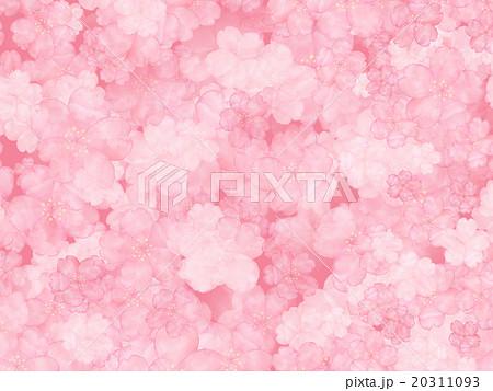 桜 さくら模様 和柄 和風 日本的 手書き 手描き 水彩画 背景イラスト