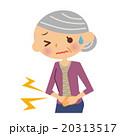 腹痛 シニア 女性のイラスト 20313517