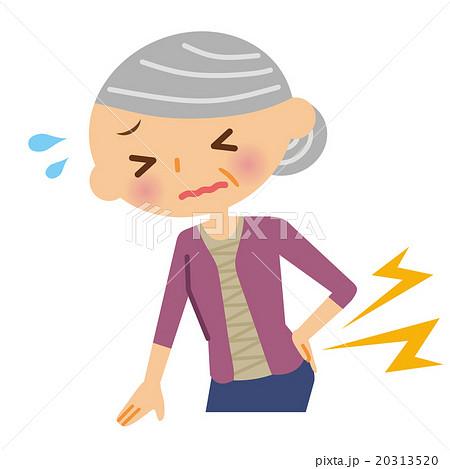 腰痛 シニア 女性 20313520