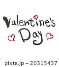 バレンタインデー 筆文字 ベクターのイラスト 20315437