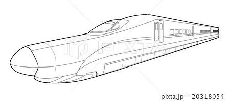 北海道新幹線のイラスト塗り絵パスのイラスト素材 20318054 Pixta