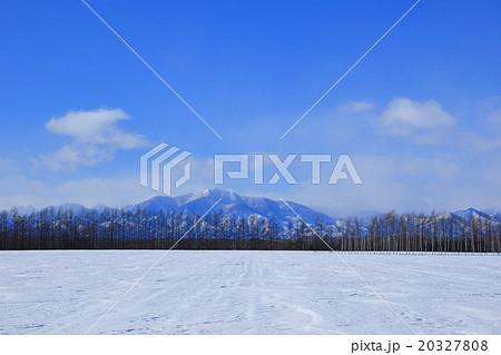 十勝から見る日高山脈の冬景色 北海道の雪山 20327808