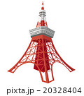 東京タワー タワー 名所のイラスト 20328404