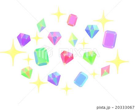 キラキラの宝石のイラスト素材 20333067 Pixta