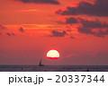 【ハワイ】ワイキキビーチからから眺める夕暮れ 20337344