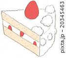 ショートケーキ 焼き菓子 ケーキのイラスト 20345463