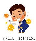 花粉症で咳き込むビジネスマン 20346101