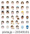 顔 表情 アイコンのイラスト 20349101