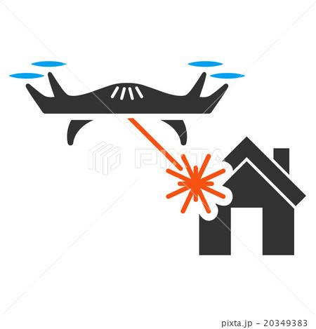 Laser Drone Attacks House Iconのイラスト素材 [20349383] - PIXTA