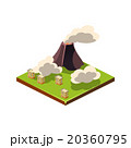Volcano Eruption and Ash. Natural Disaster Icon 20360795