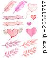 Watercolor Valentine set 20363757