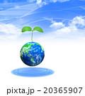 地球から発芽する若葉 20365907