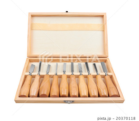 Set of Chisels in boxの写真素材 [20370118] - PIXTA