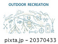 Doodle style design concept of outdoor recreation 20370433