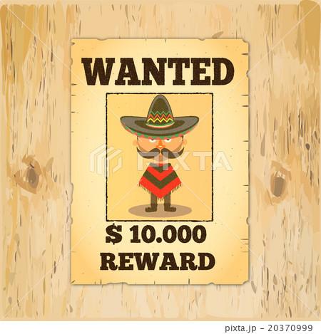 wanted reward posterのイラスト素材 20370999 pixta