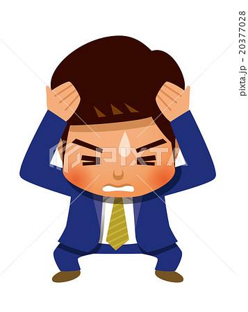 頭が痛いビジネスマン 20377028