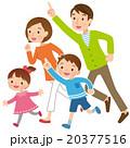 4人家族 走る 20377516