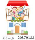 家 三世代家族 マイホームのイラスト 20379188