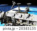 宇宙遊泳 宇宙旅行 宇宙ステーションのイラスト 20383135