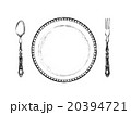 皿とスプーンとフォークイラスト 20394721