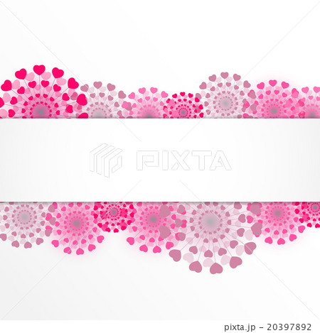 Abstract Heart Flower Background Vectorのイラスト素材 [20397892] - PIXTA