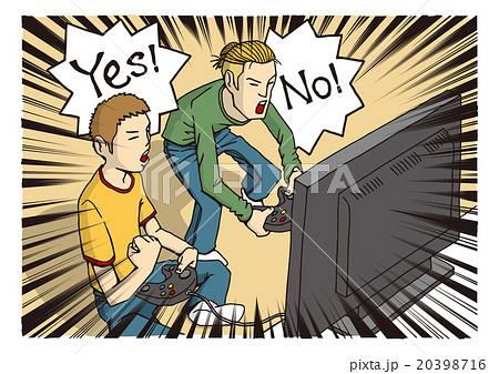 テレビゲームをする人のイメージイラスト(若者パターン) 20398716