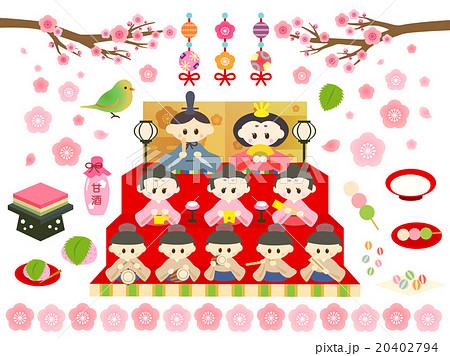 ひな祭りイラストのイラスト素材 20402794 Pixta