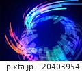 カーブして流れる光のラインと球面 アブストラクトイメージ 20403954