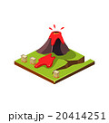 Volcano Eruption and Lava. Natural Disaster Icon 20414251