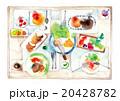 賑やかな食卓、淡色 20428782