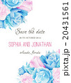 Wedding invitation watercolor with flowers. 20431561
