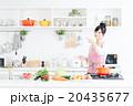 主婦 キッチン 料理の写真 20435677