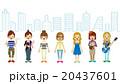 女子学生 進路 セット 都市背景 20437601