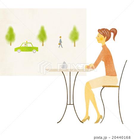カフェの女性 20440168