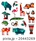 Africa and Savanna Animals Vector Set 20443269