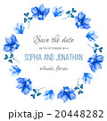Wedding invitation watercolor with flowers. 20448282