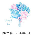 Wedding invitation watercolor with flowers. 20448284