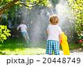 バックヤード 少年 噴水の写真 20448749