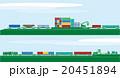 鉄道コンテナ貨物車と物流 20451894
