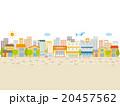 街 商店街 街並みのイラスト 20457562
