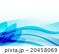 波紋 波 水のイラスト 20458069