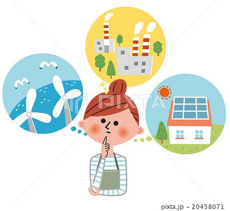 電力自由化 電力選びに迷ってい主婦 20458071