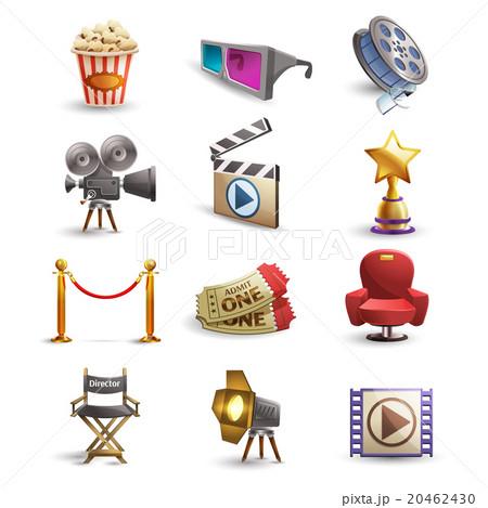 Cinema icons set 20462430