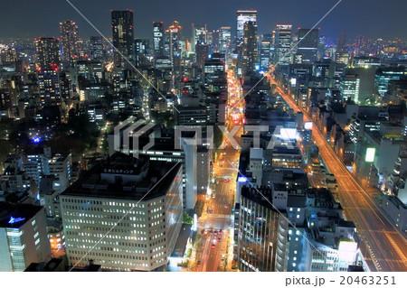 大阪 夜景 梅田ビル街 20463251