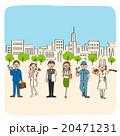 様々な職業の若者 20471231